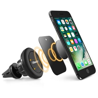 BasAcc Black Magnetic Car Air Vent Phone Holder with Joint Ball for Apple iPhone XS/ XS Max/ XR/ Samsung Galaxy Note 9/ Note 8