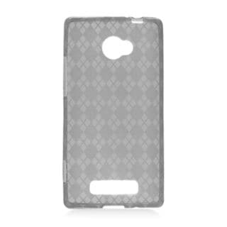Insten Clear TPU Rubber Candy Skin Case Cover For HTC Windows Phone 8X