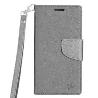 Insten Leatheretteette Case Cover Lanyard with Stand/ Wallet Flap Pouch For Samsung Galaxy J7 (2015)