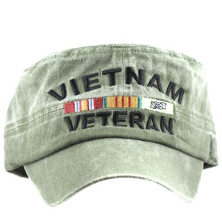 Vietnam Veteran Flat Top Green Low Profile Cap
