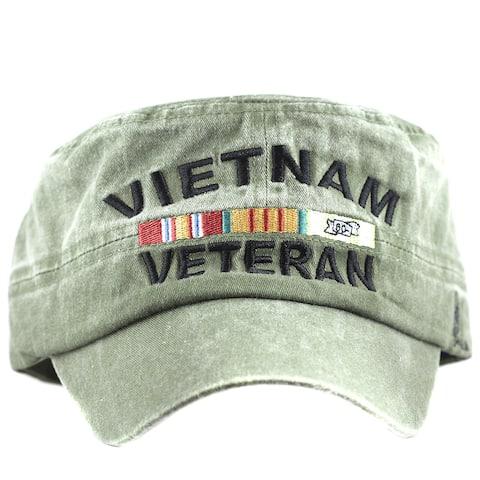 Vietnam Veteran Flat Top Green Low Profile Cap