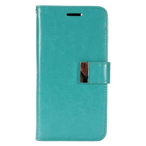 the latest 507d1 5a593 Shop Insten Mint Green Leatheretteette Case Cover with Wallet Flap ...