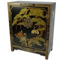 Handmade Wood Black Lacquer Cabinet (China)