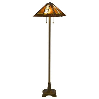 Tiffany Style Aztec Mission Floor Lamp