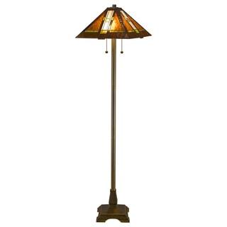 Tiffany-style Aztec Mission Floor Lamp
