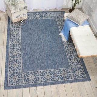 Nourison Garden Party Denim Indoor/Outdoor Area Rug (5'3X7'5)