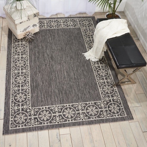 Shop Nourison Garden Party Charcoal Indoor Outdoor Area
