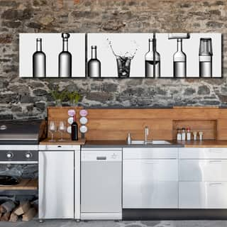 Ready2HangArt Indoor/Outdoor 3 Piece Wall Decor Set 'Bottles Game' in ArtPlexi|https://ak1.ostkcdn.com/images/products/15198333/P21676277.jpg?impolicy=medium