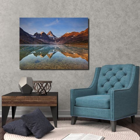 Ready2HangArt Indoor/Outdoor Wall Décor 'Magog Lake' in ArtPlexi - Multi-color