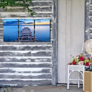 Ready2HangArt Indoor/Outdoor 3 Piece Wall Décor Set 'Pier' in ArtPlexi