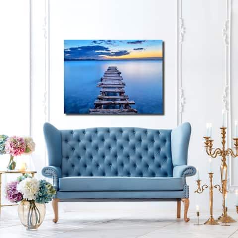 Ready2HangArt Indoor/Outdoor Wall Décor 'Pier' in ArtPlexi - Blue