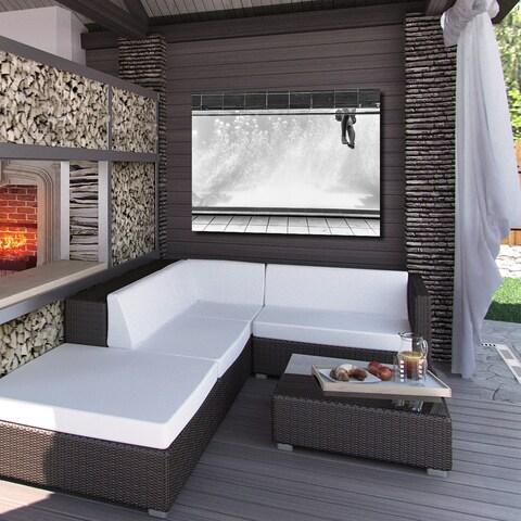 Ready2HangArt Indoor/Outdoor Wall Decor 'Bubbles' in ArtPlexi - White