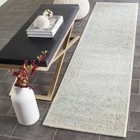 Safavieh Passion Watercolor Vintage Turquoise/ Ivory Distressed Runner (2' 2 x 6')