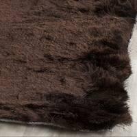 Safavieh Handmade Silken Glam Paris Shag Chocolate Brown Rug - 5' Square