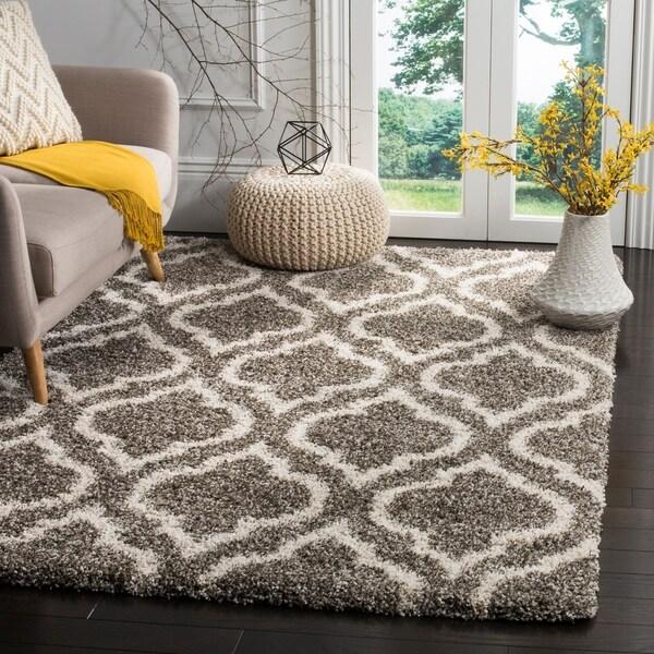 Shop Safavieh Hudson Shag Grey/ Ivory Area Rug
