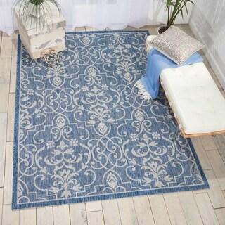 Nourison Garden Party Denim Indoor/Outdoor Area Rug (3'6X5'6 )