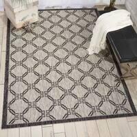 Nourison Garden Party Ivory/Charcoal Indoor/Outdoor Area Rug