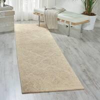 Nourison Silk Elements Natural Runner Rug (2'5 x 10') - 2'5 x 10'