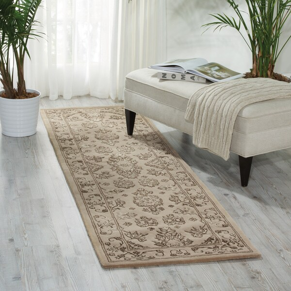 Nourison Regal Taupe Runner Rug - 2'3 x 8'