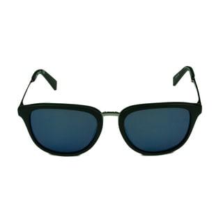 Kenneth Cole New York Women's KC7196 02D Matte Black with Blue Mirror Lenses Sunglasses