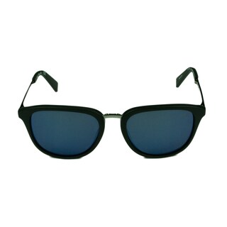 Kenneth Cole New York Women's KC7196 02D Matte Black with Blue Mirror Lenses Sunglasses