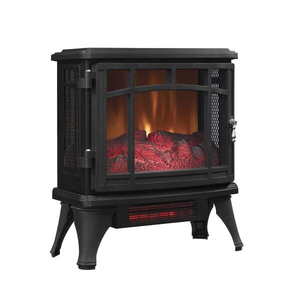 Shop Infrared Quartz Fireplace Stove, Black