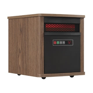 Portable Infrared Quartz Space Heater, Dark Oak