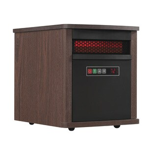 Portable Infrared Quartz Space Heater, Mahogany