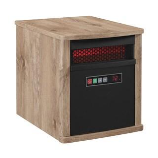 Portable Infrared Quartz Space Heater, Antique Pine
