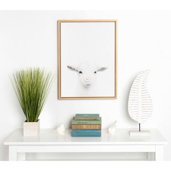 Shop DesignOvation Sylvie Baby Goat Black and White Portrait Natural ...