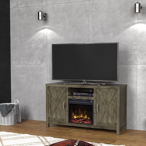 "Humboldt Fireplace TV Stand for TVs up to 55"", Spanish Gray"