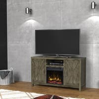"""Humboldt Fireplace TV Stand for TVs up to 55"""", Spanish Gray"""