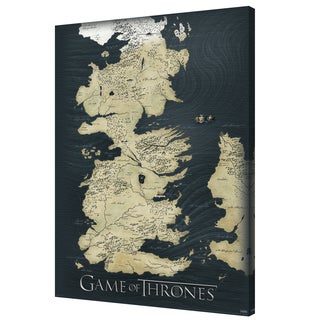 Game of Thrones - Map - 24x36 canvas by Pyramid America