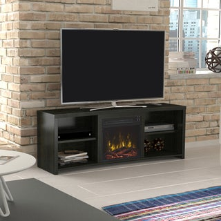 "Shelter Cove Fireplace TV Stand for TVs up to 65"", Black Walnut"