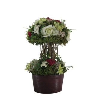 Mix Rose Centerpiece Bamboo Planter