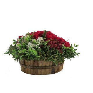 Red Rose Centerpiece Round