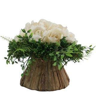 French Cream Roses on Round Centerpiece