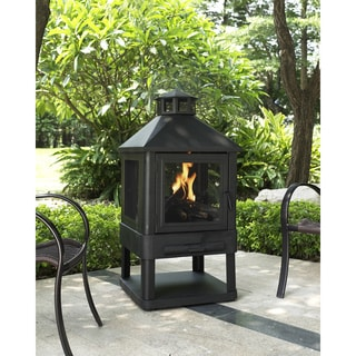 Crosley Furniture Monticello Black Steel Firepit