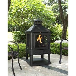 Crosley Furniture Monticello Black Steel Firepit