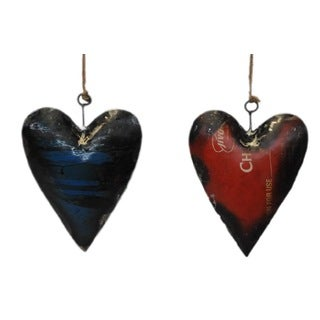 HEART Hanging Ornament. Set of Two.