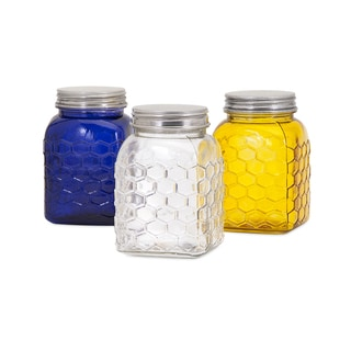 Trisha Yearwood Honey Bee Glass Canisters - Ast of 3