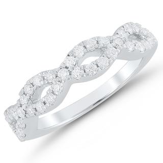14k White Gold 1/2CT. T.W Braided Anniversary Ring (H-I, I1-I2)