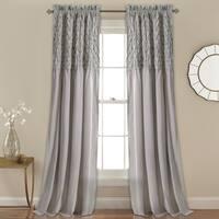 Lush Decor Ruffle Diamond Window Curtain Panel Pair Free