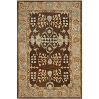 Safavieh Taj Mahal Brown/ Beige Wool Area Rug - 9'6 x 13'6