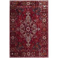 """Safavieh Vintage Hamadan Red/ Multi Area Rug - 6'7"""" x 9'"""