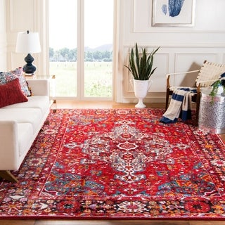 Safavieh Vintage Hamadan Red/ Multi Area Rug (5' 3 x 7' 6)