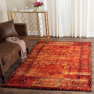 Safavieh Vintage Hamadan Overdyed Orange Distressed Area Rug - 6' 7 x 9'