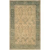"Safavieh Taj Mahal Beige/ Blue Wool Area Rug - 5'6"" x 8'6"""