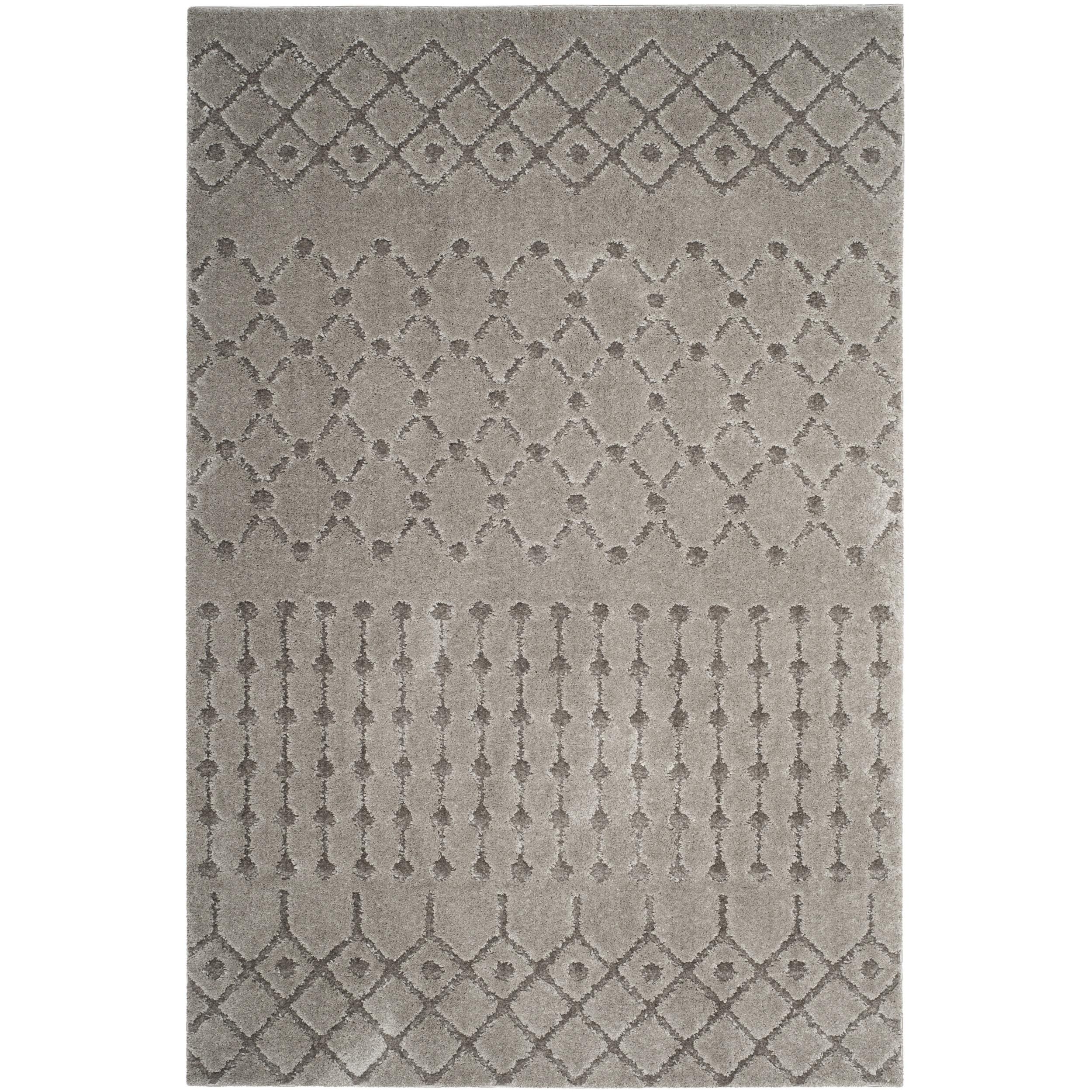 Safavieh Sparta Shag Grey Polyester Area Rug (5' 1 x 7' 6...