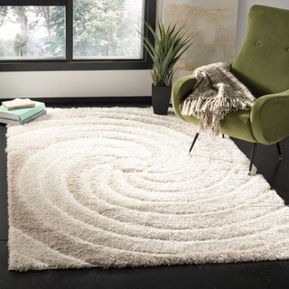 Safavieh Selarmo Shag Cream/ Beige Polyester Area Rug (5' 1 x 7' 6)